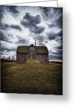 The Devil In Me Said Go Down To The Shed.... Greeting Card by Russell Styles