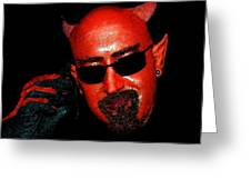 The Devil You Say Greeting Card