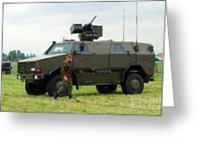 The Dingo II In Use By The Belgian Army Greeting Card