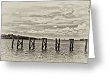 The Disappearing Pier Greeting Card