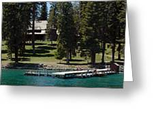 The Dock At Sugar Pine Point State Park Greeting Card