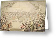 The Dog Fight Greeting Card by Thomas Rowlandson
