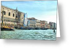 The Doge's Palace On The Grand Canal Greeting Card