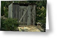 The Double Seat Outhouse Greeting Card