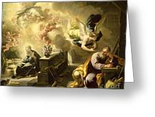 The Dream Of Saint Joseph Greeting Card by Luca Giordano