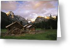 The Elizabeth Parker Hut, A Log Cabin Greeting Card