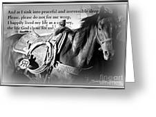 The Empty Saddle Greeting Card