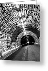 The End Of The Tunnel Greeting Card