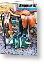 The English Saddle Greeting Card by Paul Ward