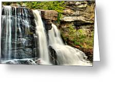 The Face Of The Falls Greeting Card