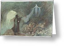 The Fairy Appearing To The Prince Greeting Card by Warwick Goble