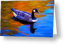 The Fall Goose Greeting Card by Suni Roveto