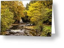 The Falls At West Burton Greeting Card