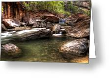 The Falls Virgin River Greeting Card