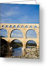 The Famous Pont Du Gare In France Greeting Card