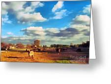The Farm Greeting Card by Odon Czintos
