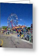 The Ferris Wheel At The Fair Greeting Card