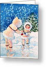 The Figure Skater 2 Greeting Card