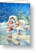 The Figure Skater 4 Greeting Card