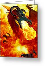 The Fire Dragon Greeting Card