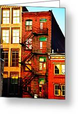 The Fire Escape Greeting Card