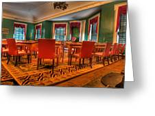 The First American Congress Senate Chamber - Independence Hall - Congress Hall -  Greeting Card