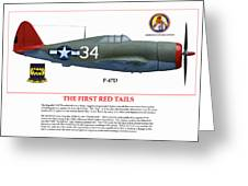 The First  Red Tails Greeting Card