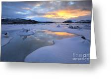 The Fjord Of Tjeldsundet In Troms Greeting Card