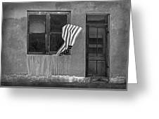 The Flag A Window And A Door Greeting Card
