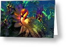 The Flamingo Of My Dreams Greeting Card by Doris Wood