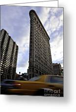 The Flat Iron Taxi Greeting Card