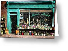 The Flower Shop Greeting Card