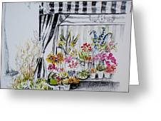 The Flower Stand Greeting Card