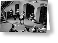 The Flying Quartet Covent Garden Greeting Card