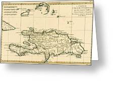 The French And Spanish Colony Of The Island Of St Dominic Of The Greater Antilles Greeting Card by Guillaume Raynal