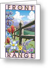 The Front Range Poster Greeting Card