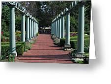 The Garden Walk Greeting Card