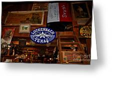 The General Store In Luckenbach Tx Greeting Card