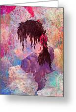 The Girl Of Many Colors Greeting Card