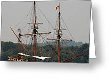The God Speed Tall Ship Greeting Card