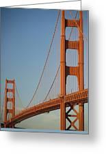 The Golden Gate Bridge At Dawn Greeting Card