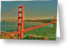 The Golden Gate Bridge Summer Greeting Card by Alberta Brown Buller