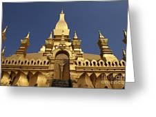 The Golden Palace Laos Greeting Card