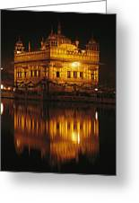 The Golden Temple Is Reflected Greeting Card