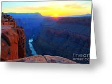 The Grand Canyon Solitude At Toroweap Greeting Card