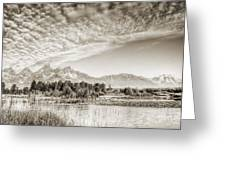 The Grand Tetons In Jackson Wyoming Greeting Card