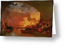 The Great Fire Of London Greeting Card