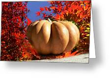 The Great Pumpkin And October Colors Greeting Card