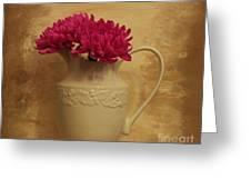 The Grecian Magenta Mum Greeting Card by Marsha Heiken