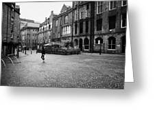 The Green Aberdeen Old Town City Centre Scotland Uk Greeting Card
